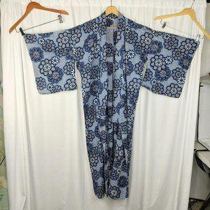 Vintage Handmade Blue Japanese Kimono